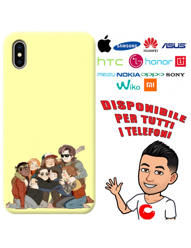 COVER STRANGER THINGS PER APPLE IPHONE, SAMSUNG GALAXY, HUAWEI, ASUS, WIKO, XIAOMI, HONOR, ONEPLUS