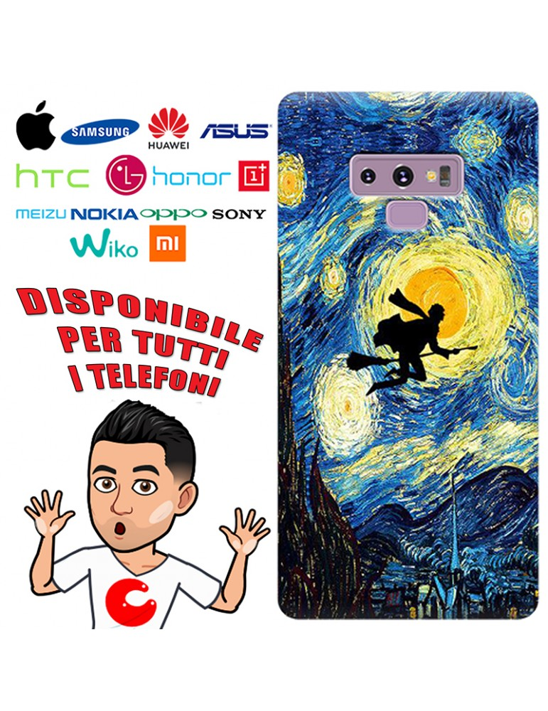 COVER NOTTE STELLATA PER APPLE IPHONE, SAMSUNG GALAXY, HUAWEI, ASUS, WIKO, XIAOMI, HONOR, ONEPLUS