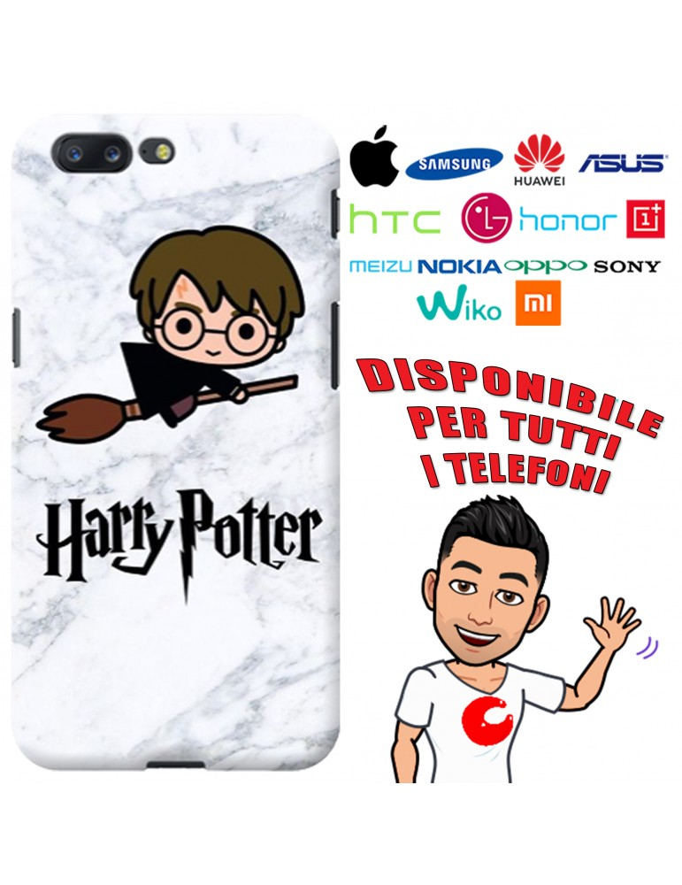 COVER HARRY POTTER MARMO PER APPLE IPHONE, SAMSUNG GALAXY, HUAWEI, ASUS, WIKO, XIAOMI, HONOR, ONEPLUS