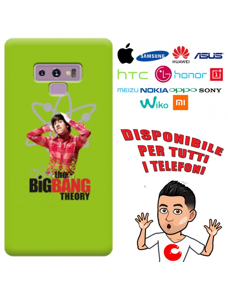 COVER BAZINGA HOWARD PER APPLE IPHONE, SAMSUNG GALAXY, HUAWEI, ASUS, WIKO, XIAOMI, HONOR, ONEPLUS