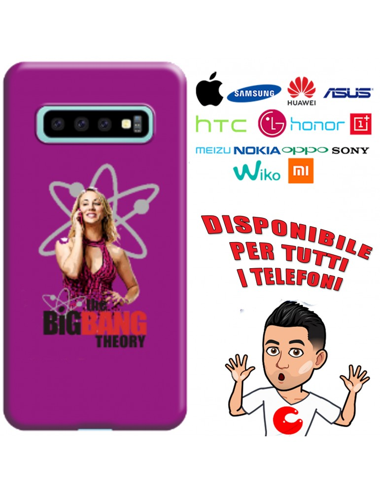 COVER BAZINGA PENNY PER APPLE IPHONE, SAMSUNG GALAXY, HUAWEI, ASUS, WIKO, XIAOMI, HONOR, ONEPLUS