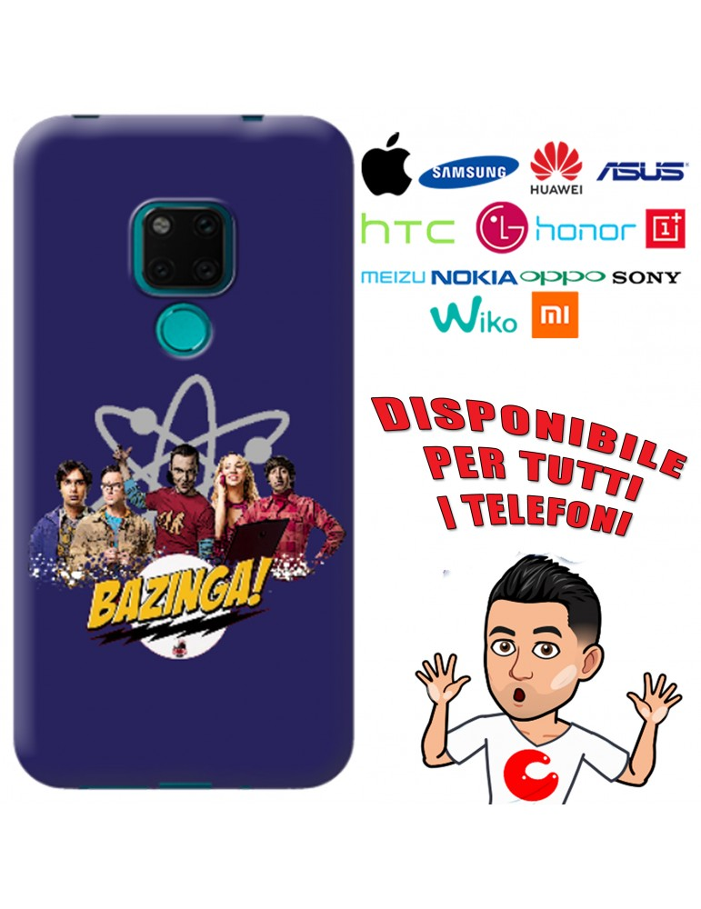 COVER BAZINGA CAST PER APPLE IPHONE, SAMSUNG GALAXY, HUAWEI, ASUS, WIKO, XIAOMI, HONOR, ONEPLUS